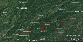 nc maps information and maps of five wildfires in and