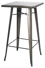 Industrial Bistro Table Metropolis Metal Bar Table Industrial Indoor Pub And Bistro