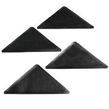 Rug Gripper Pad For Carpet 4pcs Anti Slip Coner Rubber Mat Trangle Non Slip Carpet Skid