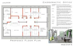 example floor plan with semi open adjusting massage exam report