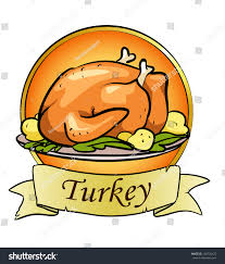 thanksgiving day logo design roasted turkey stock vector 109735475