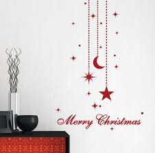christmas decal holiday wall decals for walls star moon zoom