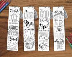 printable easter bookmarks to colour easter coloring etsy