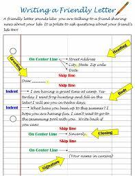 printable friendly letter format friendly letter template sample