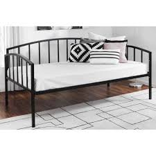 bed frame bed frames luna metal platform frame with wood slats