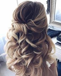 large hair pleats 33 half up half down wedding hairstyles ideas partial updo wave