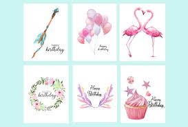 water color cards free printable watercolor birthday cards flamingo balloons