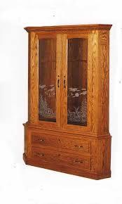 Glass Gun Cabinet Amish Gun Cabinets In Standard Designs Amish Custom Gun Cabinets