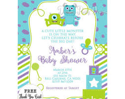 inc baby shower monsters inc baby shower invitations etsy