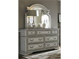 liberty furniture bedroom queen uph bed dresser and mirror chest