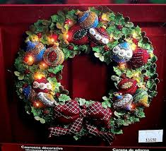 bucilla 85453 lighted ornament wreath felt kit ebay