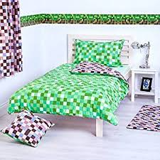 Green Double Duvet Cover Green U0026 Brown Pixels Design Bedding Single Duvet Cover Set With