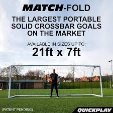 amazon com quickplay fold away soccer goals match standard