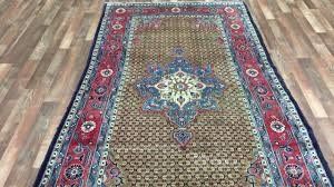 Gold Oriental Rug Gold Blue And Red Semi Antique Persian Hamadan Oriental Rug 4 U00279x9