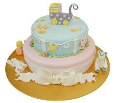two tier baby shower cake with full of decorationspng baby