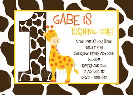 Invitation Birthday Party Card Giraffe Birthday Invitation Giraffe Birthday Party Invitations