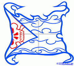 Cool Flags Draw A Burning Flag Flag Tattoo Step By Step Drawing Sheets