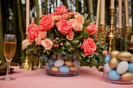 diy easter centerpieces coral robin u0027s egg blue gold the