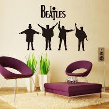 45 93cm the beatles wall stickers legend rock band wall decals see larger image