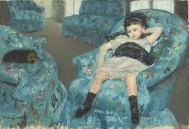 mary cassatt little in a blue armchair 1878 artsy