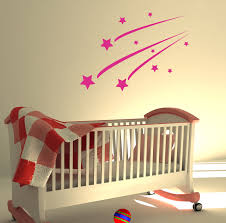 shooting stars kids bedroom wall sticker art decals ebay please use the dropdown tab top page select your colour and size requirements