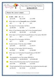 worksheets for place value grade 4 worksheets aquatechnics biz