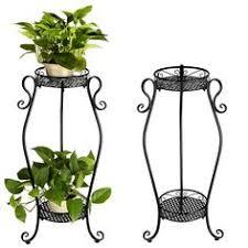 3 tier metal shelves flower pot plant stand display indoor outdoor