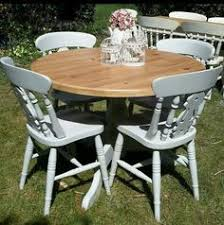 gorgeous french style shabby chic round dining table only painted