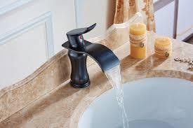 single handle water fall bathroom sink faucet