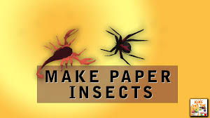 how to make paper insects easy for children kids craft toy