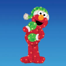 18 sesame lighted elmo 3 d soft tinsel