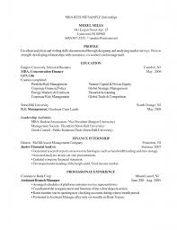 Resume Examples Internship Mba Sample Resumes Resume Cv Cover Letter