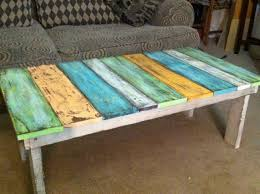 old fence boards made into a coffee table wooden crafts