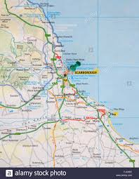 Maps Of England by Road Map Of The East Coast Of England Showing Filey And With A