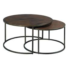 cottage style round coffee tables elegant madrid copper round end table copper end table plan viabil org