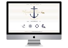 wedding websites search nautical wedding invitation wedding website website design