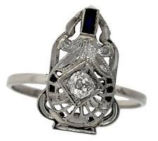 art nouveau u0026 art deco fine rings ebay