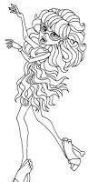monster high ghoulia coloring pages getcoloringpages com