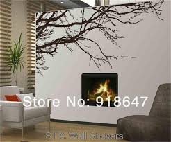Wood Branches Home Decor Sia Wall Sticker New Large 200x80cm Vinyl Wall Decal Art Black