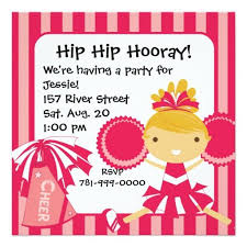 419 best cheerleader birthday party invitations images on