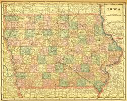 map of iowa towns 1899 crams unrivaled atlas of the ames historical society