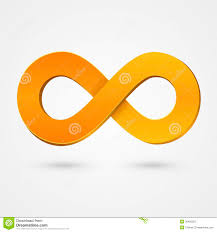 infinity number abstract infinity orange sign royalty free stock photography