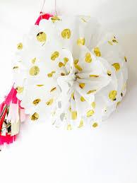 gold polka dot tissue paper tissue paper pom poms gold polka dot pom poms birthday