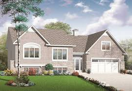 bi level house plans with attached garage split level house plans designs the plan collection