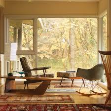 mid century modern baseboard mid century modern homes living room midcentury with oriental rug