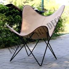 Butterfly Patio Chair Canvas Leather Butterfly Outdoor Garden Chair Classic Outdoor