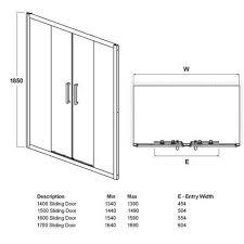 Shower Door Width Standard Size Sliding Shower Doors Sliding Doors Ideas