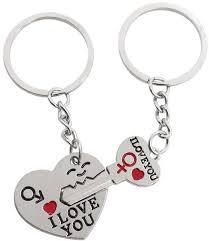 love key rings images New 1 pair couple i love you letter keychain heart key ring jpg