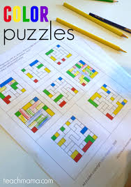 color puzzles fun math and logic for kids fun math worksheets