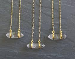 gold quartz necklace images Gold quartz necklace etsy jpg